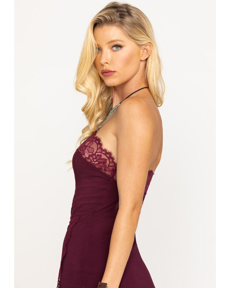 Free People Women's Premonitions Bodycon Dress, Wine, hi-res