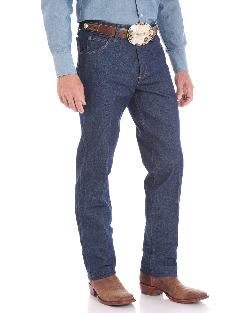 Wrangler Men's Rigid Premium Performance Cowboy Cut Fit Jeans - Big , Blue, hi-res