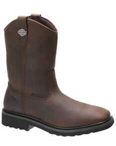 Harley Davidson Men's Altman Western Work Boots - Composite Toe, Brown, hi-res