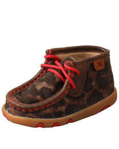 Twisted X Infant Girls' Shine Leopard Chukka - Moc Toe  , Leopard, hi-res