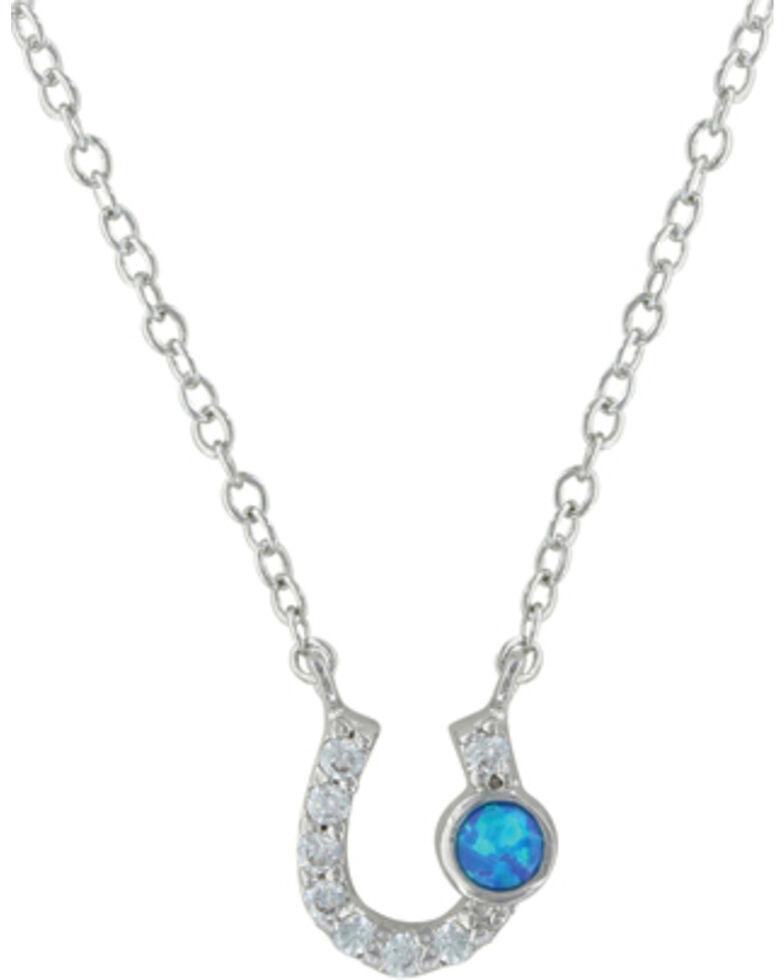 Montana Silversmiths Women's Silver Lightfoot Horseshoe Necklace , Silver, hi-res