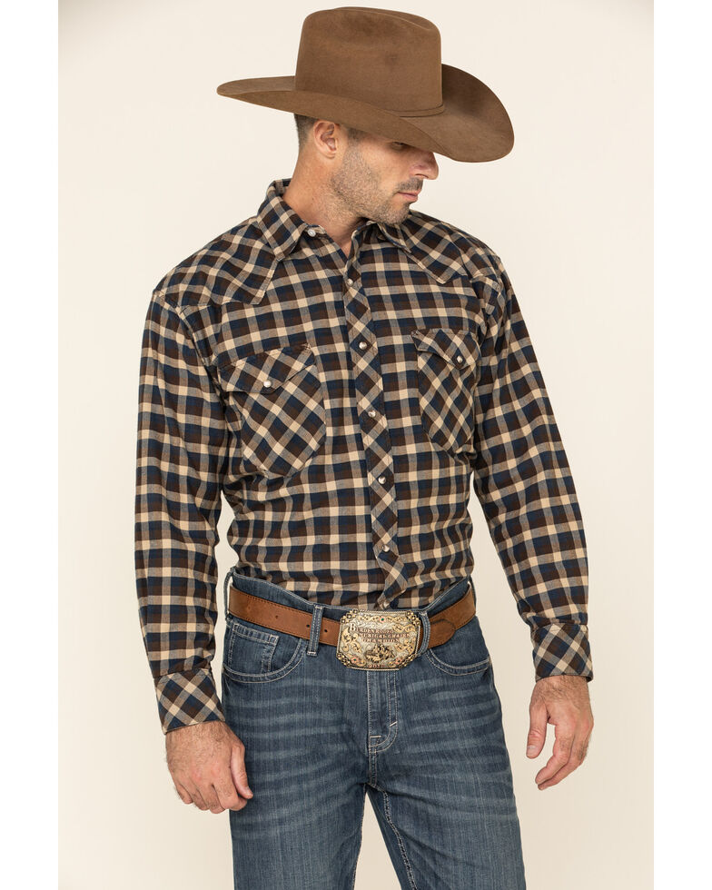 Resistol Men's Multi Bienville Check Plaid Long Sleeve Western Shirt , Multi, hi-res
