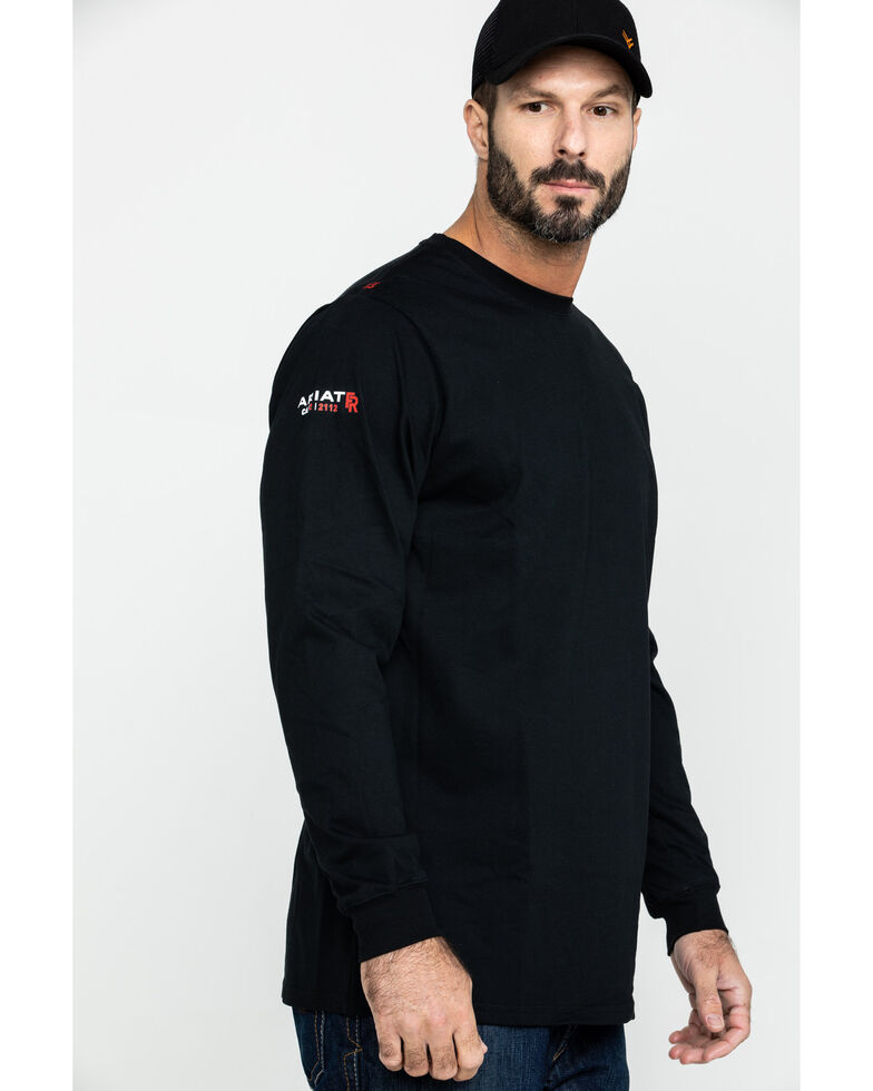Ariat Men's FR Freedom Eagle Graphic Long Sleeve Work T-Shirt , Black, hi-res