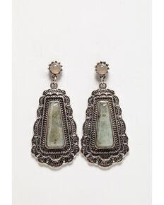 Shyanne Women's Moonlit Large Concho Earring , Silver, hi-res
