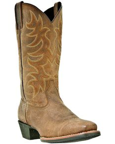 Laredo Men's Square Toe Piomosa Western Boots, Tan, hi-res