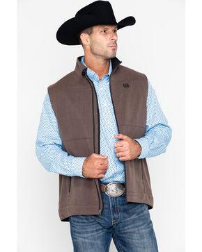 Cinch Men's Brown Textured Bonded Vest, Brown, hi-res