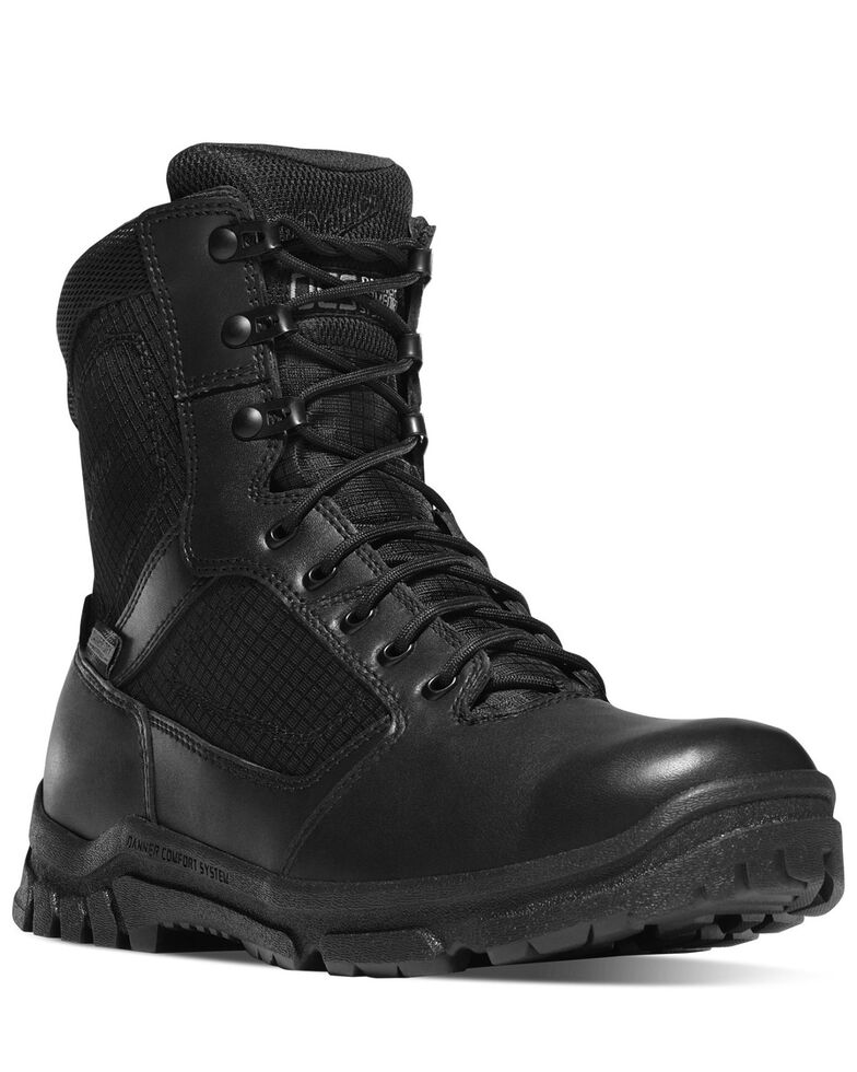 Danner Men's Lookout Side-Zip Work Boots - Soft Toe, Black, hi-res