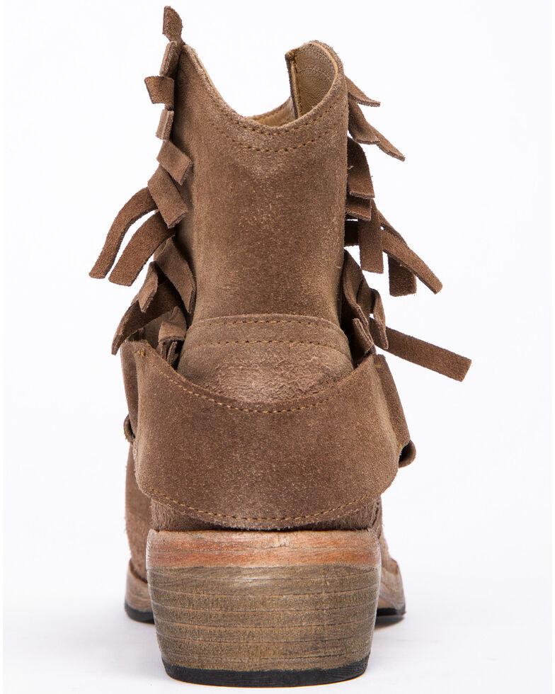 Free People Women's Bandalier Fringe Western Booties - Round Toe, Taupe, hi-res