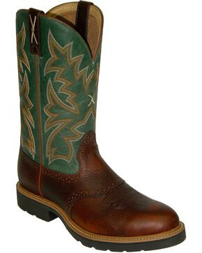 Twisted X Men's Pull-On Safety Work Boots, Cognac, hi-res