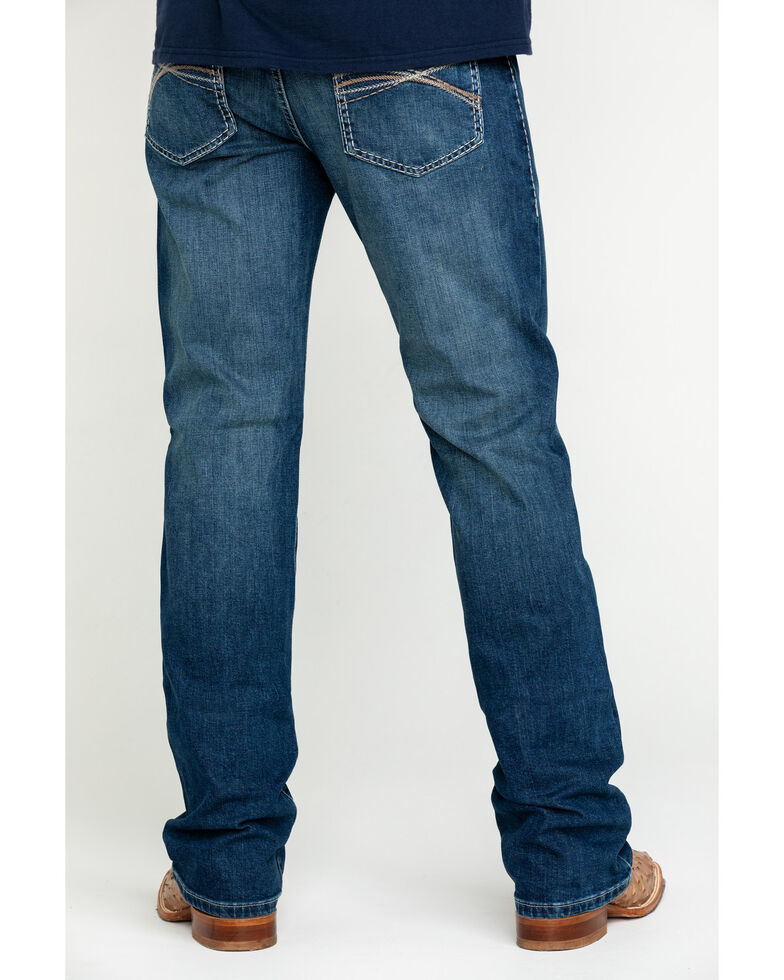 Rock 47 By Wrangler Men's Soundtrack Stretch Slim Bootcut Jeans , Blue, hi-res