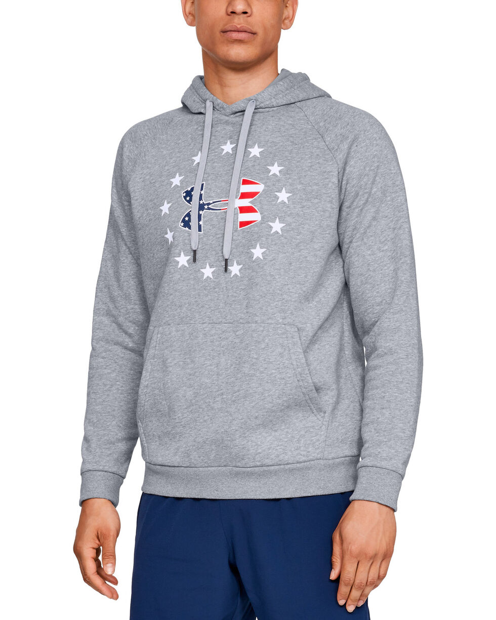 Under Armour Men's UA Freedom Rival Fleece, Charcoal, hi-res