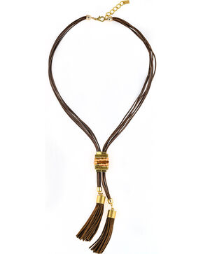Sincerely Mary Women's Mumbai Tassel Necklace, Brown, hi-res