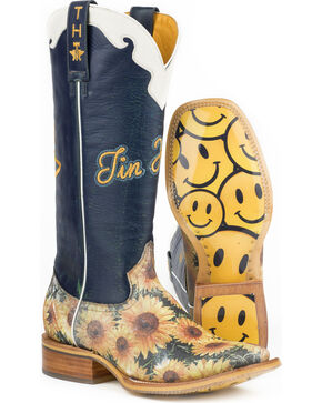 Tin Haul Women's Sunflower Western Boots, Multi, hi-res