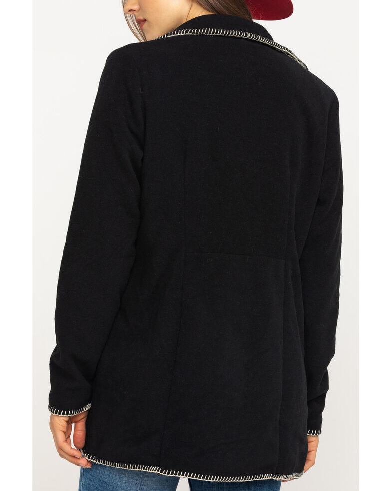 Outback Trading Co. Women's Midnight Aztec Embroidered Fleece Santa Fe Jacket , Dark Blue, hi-res