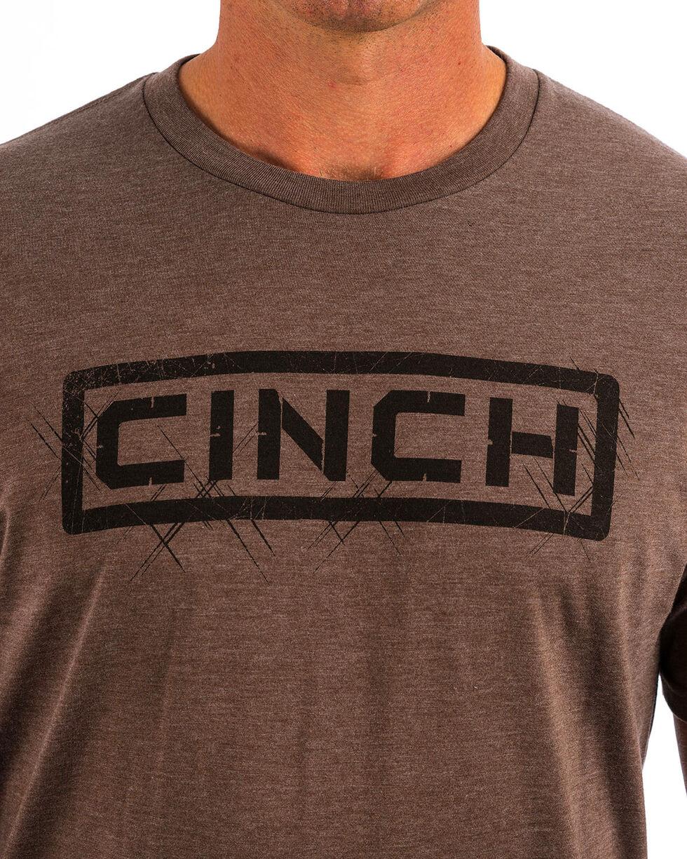 Cinch Men's Brown Classic Logo Short Sleeve Tee , , hi-res