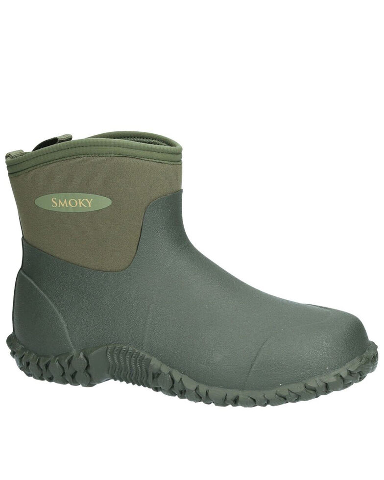 Smoky Mountain Youth Boys' Amphibian Rubber Boots - Round Toe, Green, hi-res
