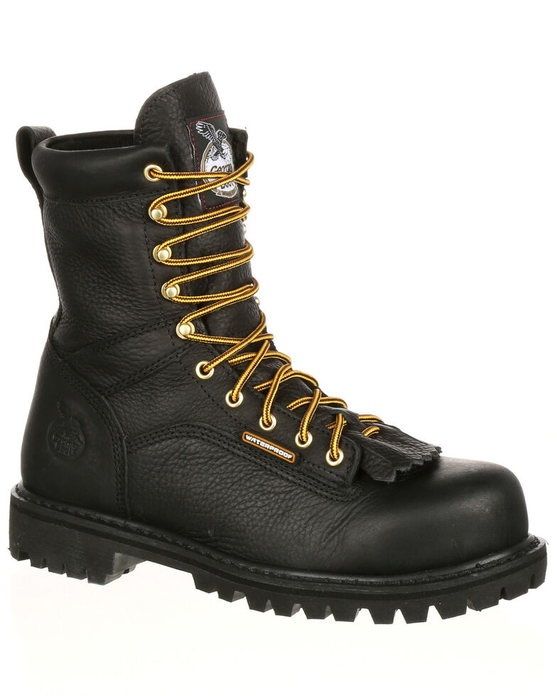 307a8107dcb Georgia Boot Men's Lace-To-Toe Waterproof Work Boots - Steel Toe