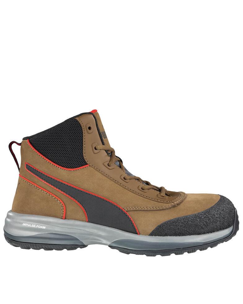 Puma Men's Rapid Impulse Work Boots - Composite Toe, Brown, hi-res