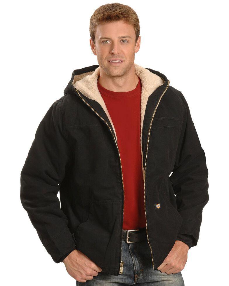 Dickies Hooded Sherpa Lined Work Jacket, Black, hi-res