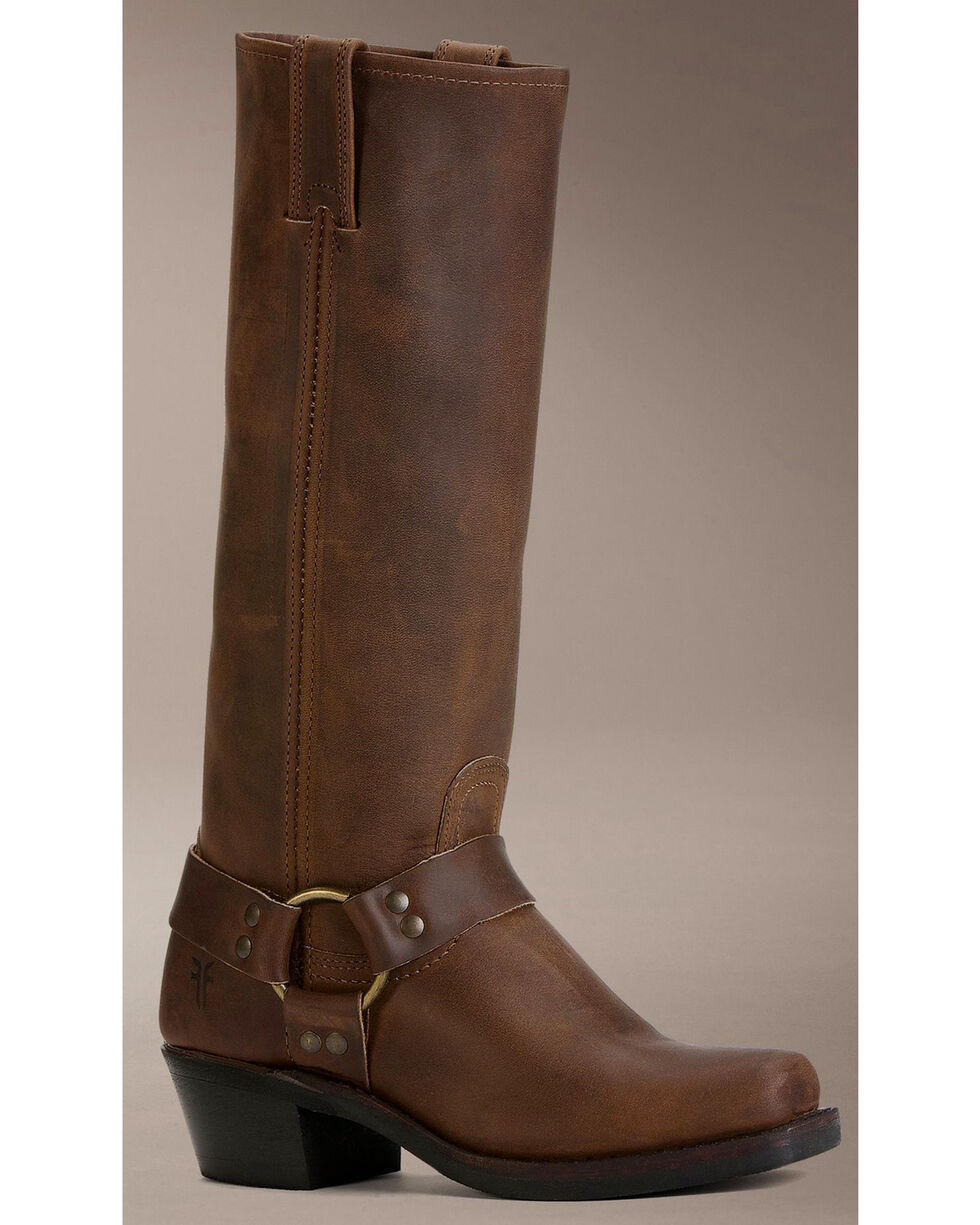 Frye Women's Harness 15R Riding Boots - Square Toe, Tan, hi-res