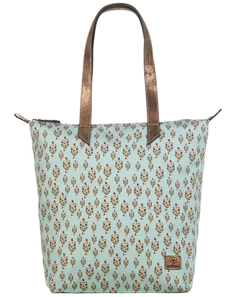Ariat Women's Cactus Cruiser Tote Bag, Turquoise, hi-res
