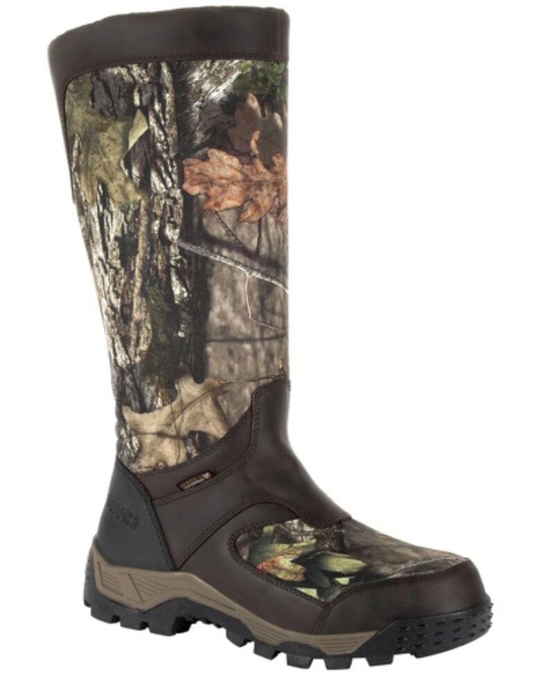 Rocky Men's Sport Pro Waterproof Snake Boots - Round Toe, Brown, hi-res