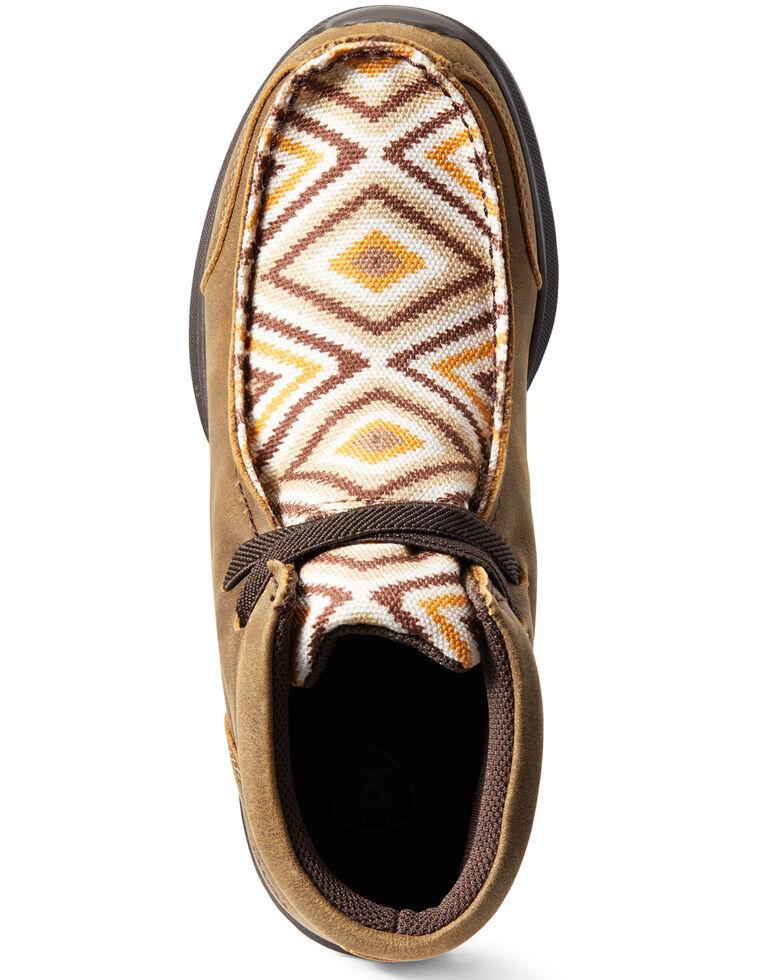 Ariat Boys' Aztec Spitfire Bomber Shoes - Moc Toe, Brown, hi-res