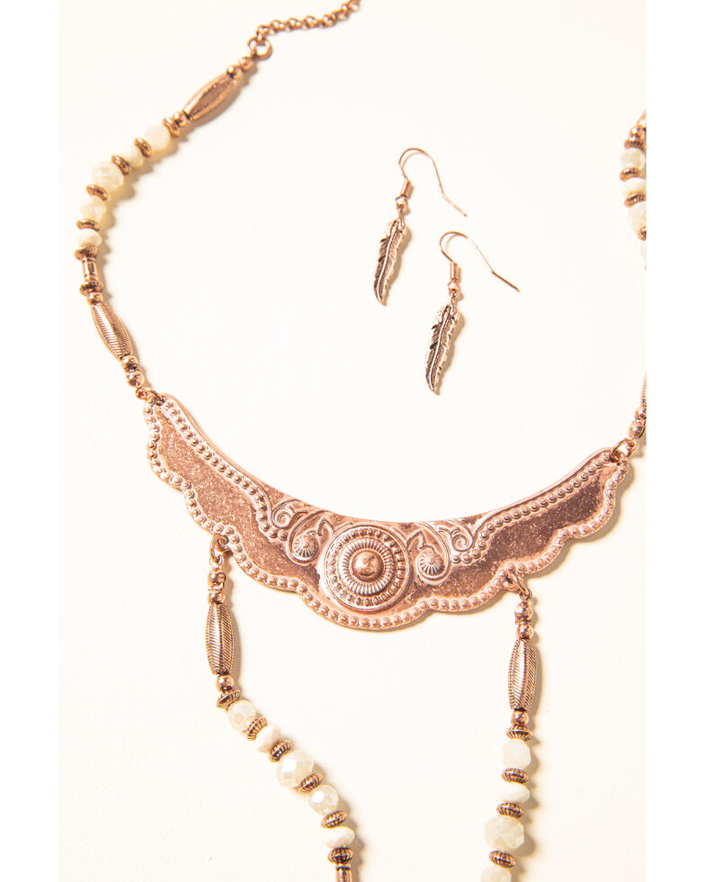 Shyanne Women's Desert Dreams Two Tier Beaded Jewelry Set , Rust Copper, hi-res