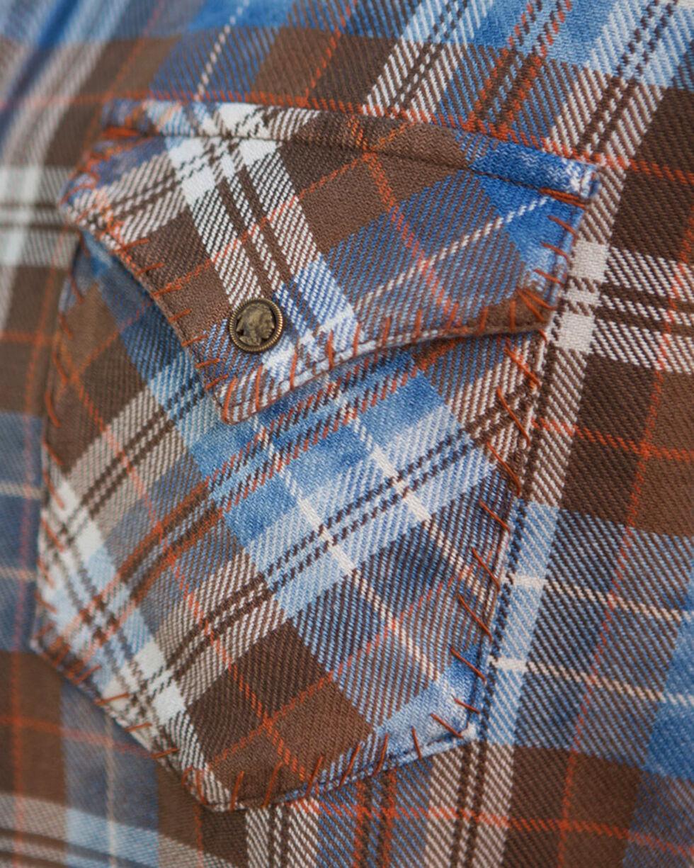 Ryan Michael Men's Indigo Large Yarn Plaid Shirt, Indigo, hi-res