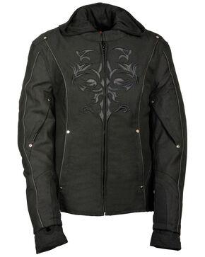 Milwaukee Leather Women's Reflective Tribal 3/4 Textile Jacket - 3X, Black, hi-res