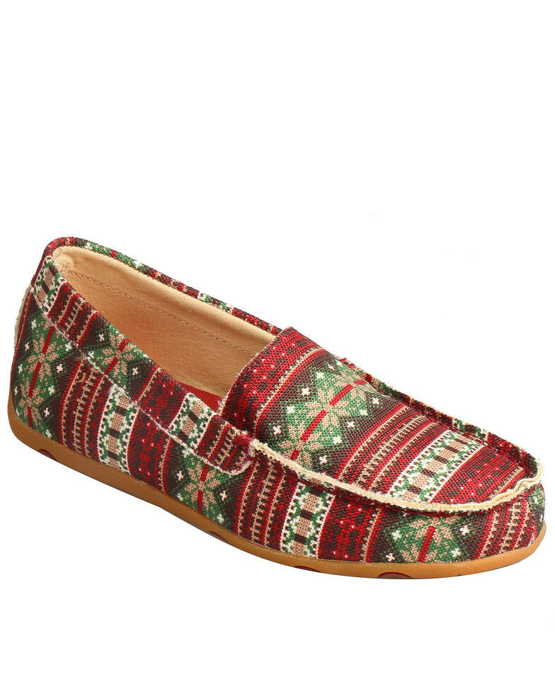 Twisted X Women's Driving Moccasin Slippers - Moc Toe, Multi, hi-res