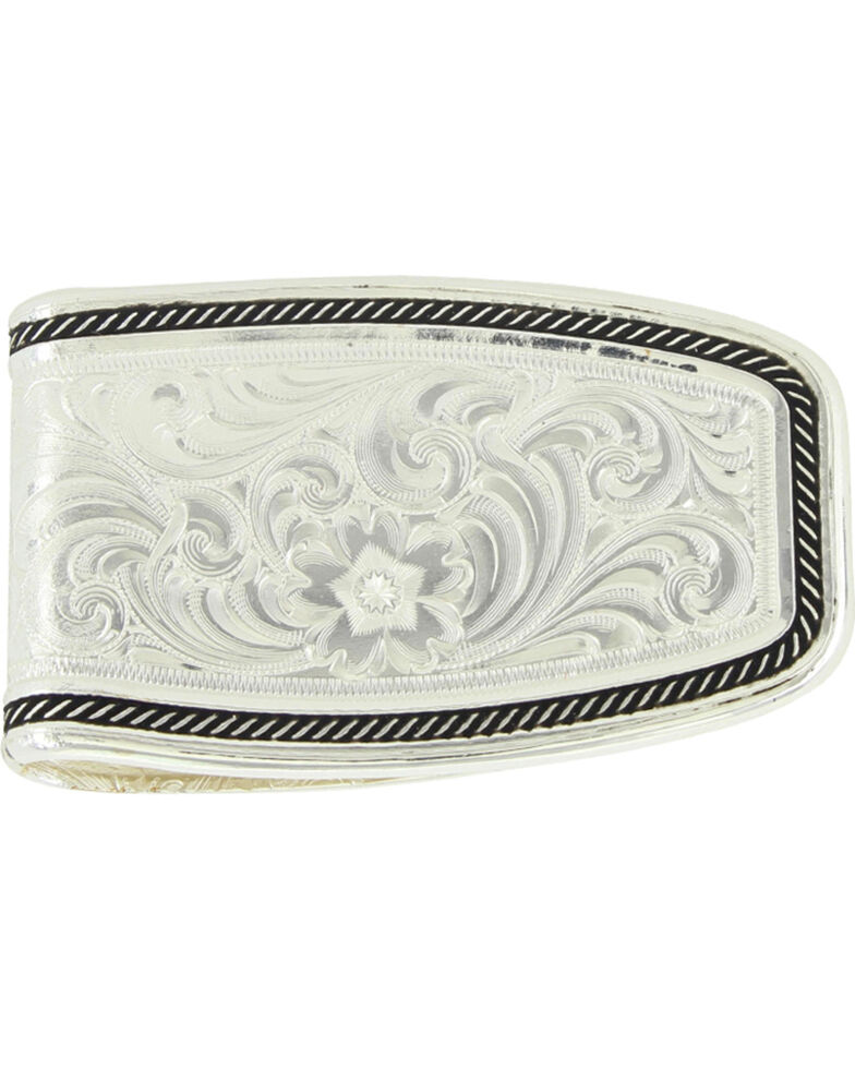 Montana Silversmiths Silver Softly Roped Money Clip , Silver, hi-res