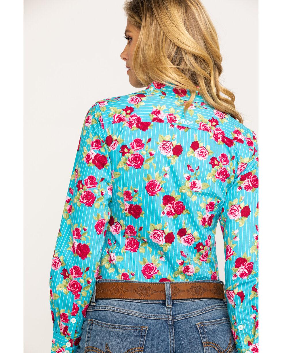 Ariat Women's Kirby Stretch Rose Print Long Sleeve Western Shirt , Multi, hi-res