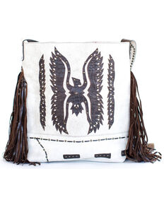 Juan Antonio Women's Thunderbird Rodeo Fringe Handbag, Ivory, hi-res