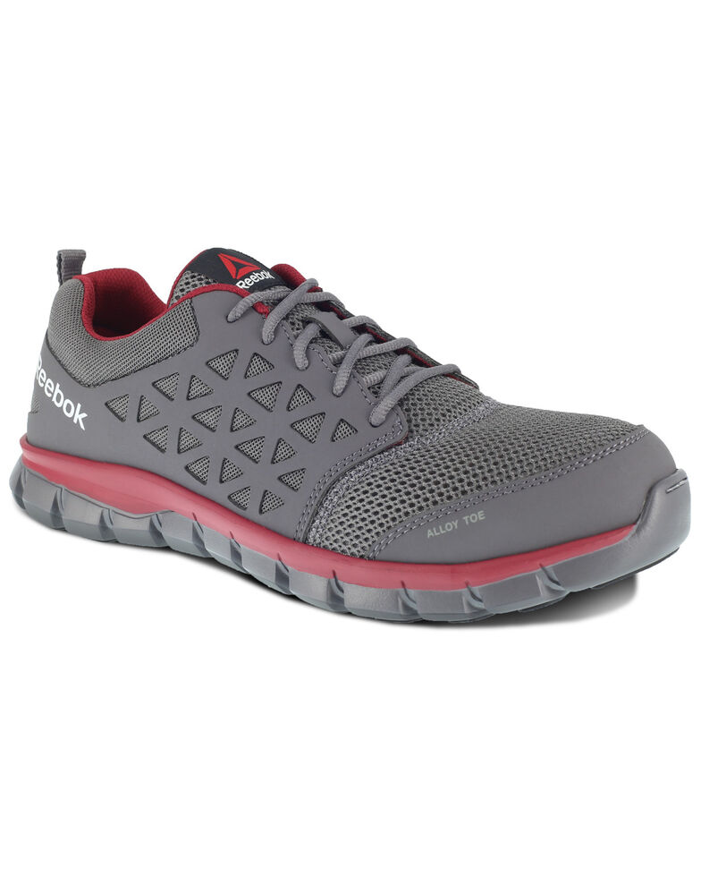 Reebok Men's Sublite Cushion Work Shoes - Alloy Toe, Grey, hi-res