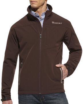 Ariat Vernon Softshell Jacket, Coffee, hi-res