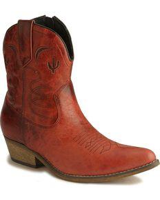 Dingo Women's Adobe Rose Western Boots, Red, hi-res