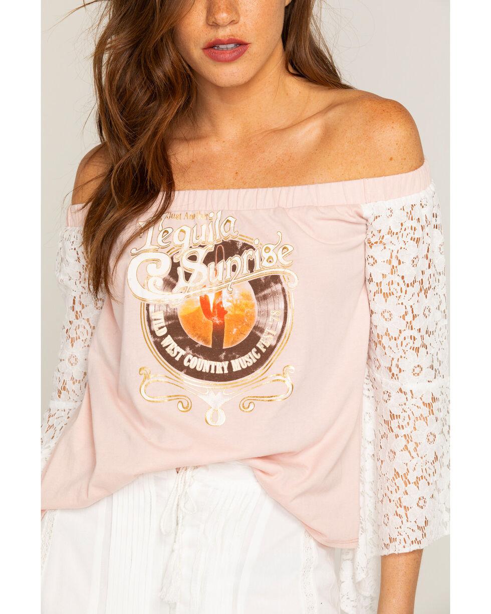 Shyanne Women's Tequila Sunrise Off-The-Shoulder Top, Blush, hi-res
