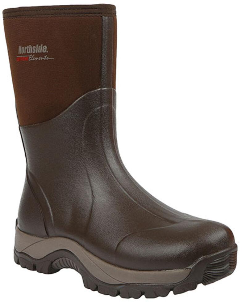 Northside Men's Glacier Drift Waterproof Rubber Hiking Boots - Soft Toe, Dark Brown, hi-res
