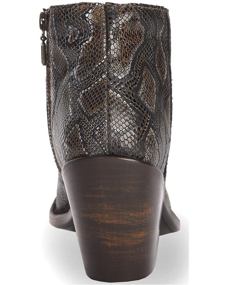 Liberty Black Women's Breton Snake Print Booties - Medium Toe, Dark Brown, hi-res