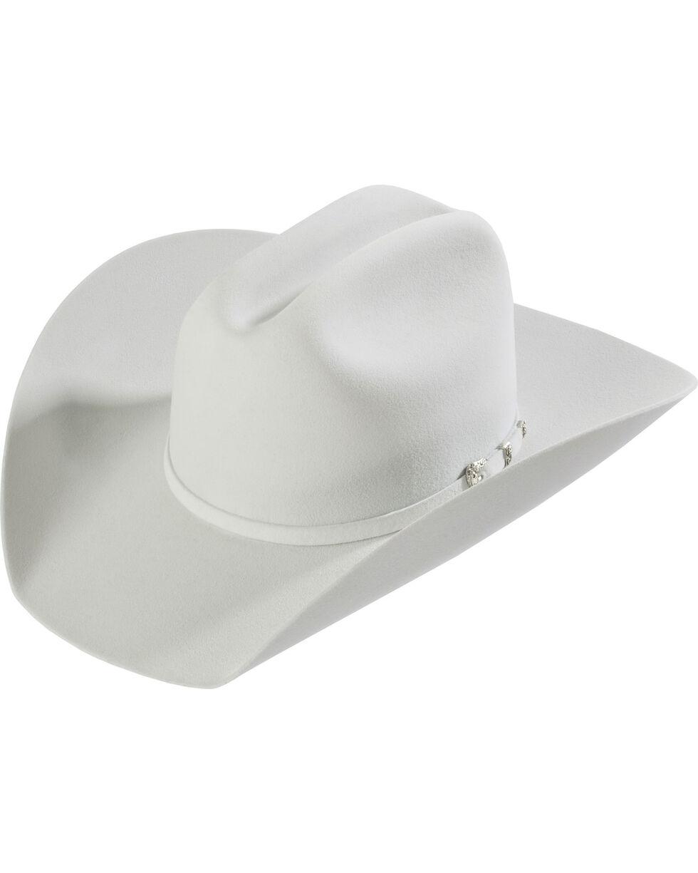 Justin Men's 8X Fur Mustang Felt Hat, Platinum, hi-res