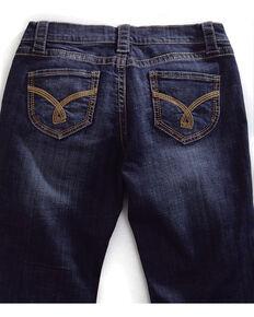 Tin Haul Women's Mimi X-Boyfriend Straight Leg Gold Embroidered Jeans, Denim, hi-res