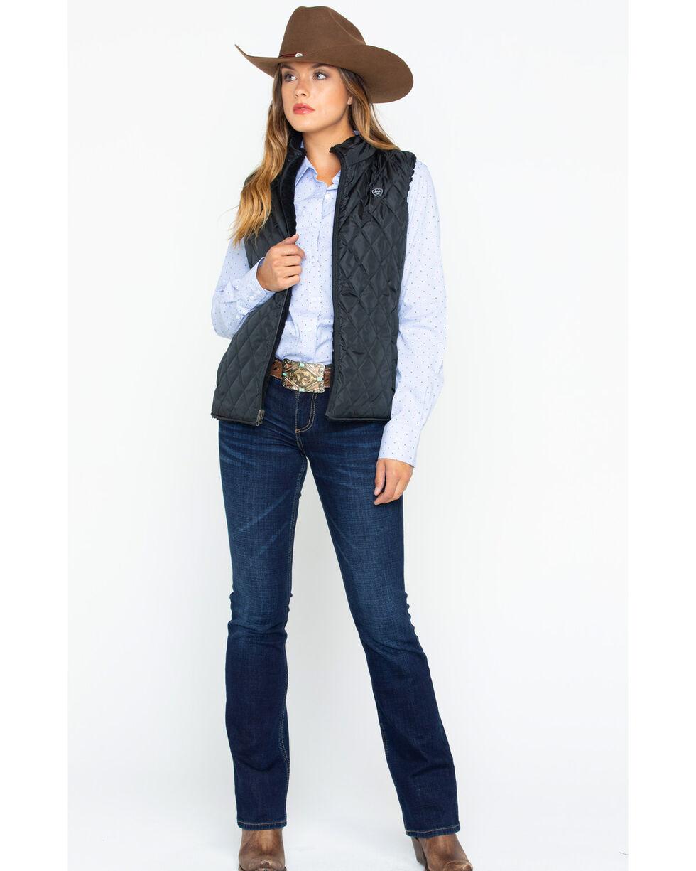 Ariat Women's Hallstatt Reversible Vest , Black, hi-res