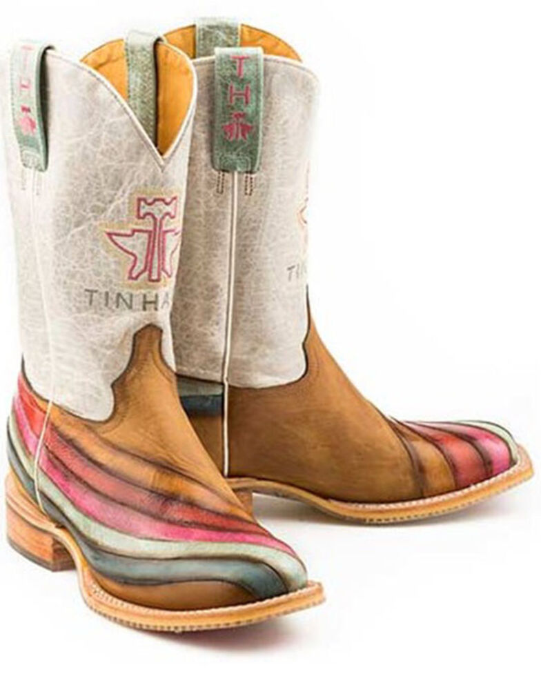 Tin Haul Women's Over The Rainbow Western Boots - Wide Square Toe, Multi, hi-res