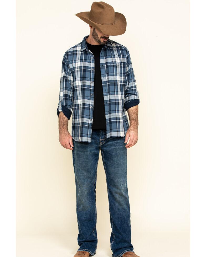 Pendleton Men's Blue Fairbanks Plaid Button Long Sleeve Western Shirt , Blue, hi-res