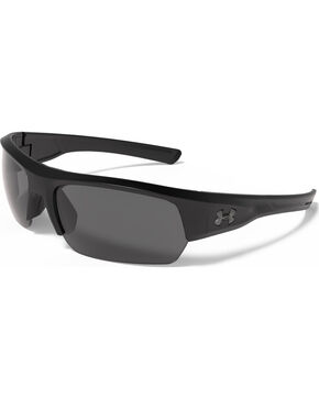 Under Armour Men's Satin Black UA Big Shot Sunglasses , Black, hi-res