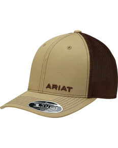 2529024180c2e Ariat Men s Tan Offset Text Baseball Cap