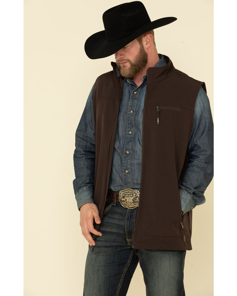 Cody James Core Men's Brown Wrightwood Zip Front Vest - Tall , Brown, hi-res