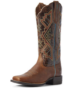 Ariat Women's Jackpot Western Boots - Wide Square Toe, Brown, hi-res