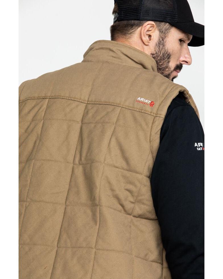 Ariat Men's FR Crius Insulated Work Vest - Big , Beige/khaki, hi-res